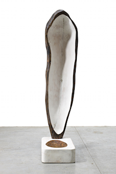 Reflection 2011 height 233 cm Cypress with patina's